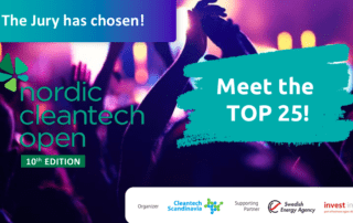 The Top 25 most innovative start-ups of the Nordic Cleantech Open 10th edition are announced!