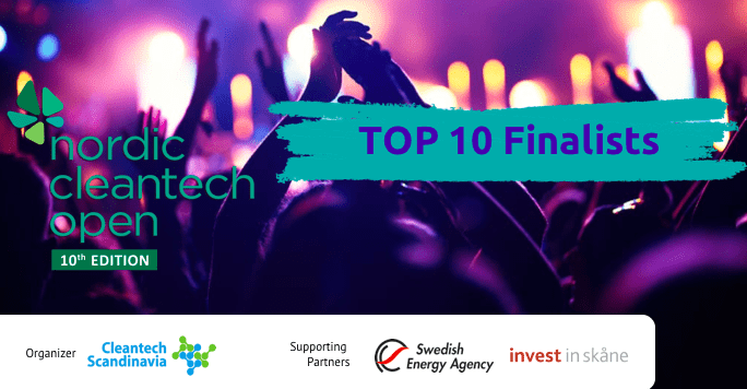 These are the Top 10 finalists of the 10th Nordic Cleantech Open 10th edition